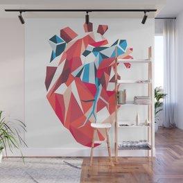 Poligon Heart Wall Mural
