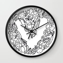 V Vegetables Wall Clock