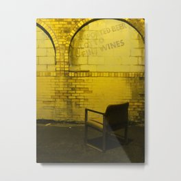 A Seat In The Alley Metal Print