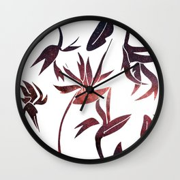 Birds of Paradise Space Cut-Outs Wall Clock
