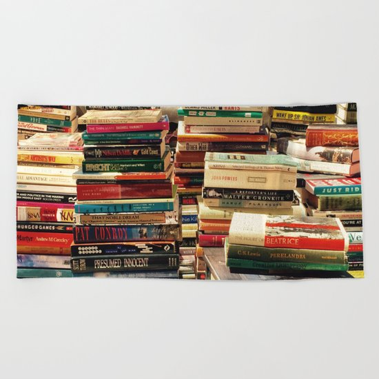 Books Beach Towel