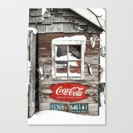 Snow Shed Vintage Signs Canvas Print