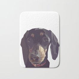 Geometric Sausage Dog Digitally Created Bath Mat
