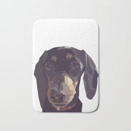 Geometric Sausage Dog Digitally Created Bath Mat