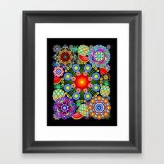 Mandalas & Exotic Fruits Pattern Framed Art Print