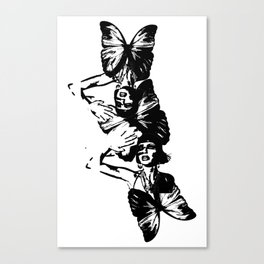 Butterfly Paparazzi Two Canvas Print