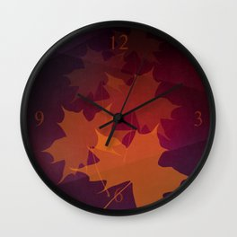 Falling Autumn Wall Clock