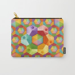 Rainbow Hexagons Carry-All Pouch