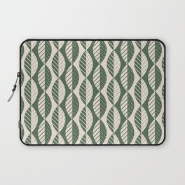 Mod Leaves in Olive and Cream Laptop Sleeve