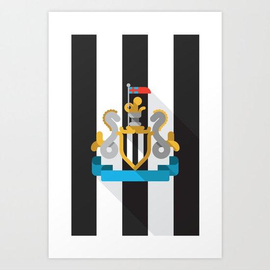 NUFC Art Print