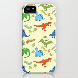 Dinosaur Pattern iPhone Case