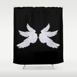 White Archangel Wings Shower Curtain