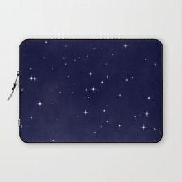 Modern navy blue white starry sky stars pattern Laptop Sleeve