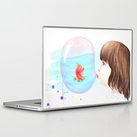 bubblegum Laptop & iPad Skins featuring Bubblegum by Vanessa Lim