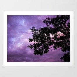 Tree in Purple Art Print