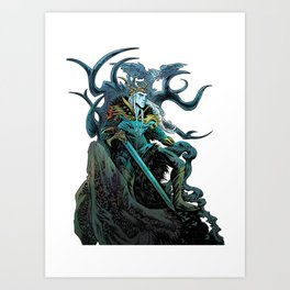 Elf King - White Art Print