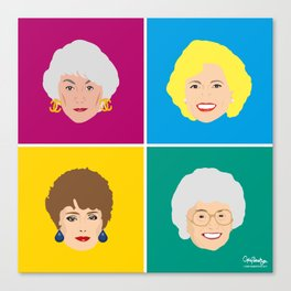 The Golden Girls - Pop Art Style Canvas Print