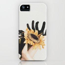 sunflower hands iPhone Case