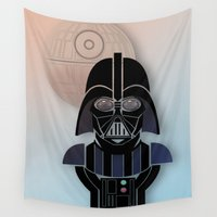 starwars Wall Tapestries featuring StarWars Darth Vader by Joshua A. Biron
