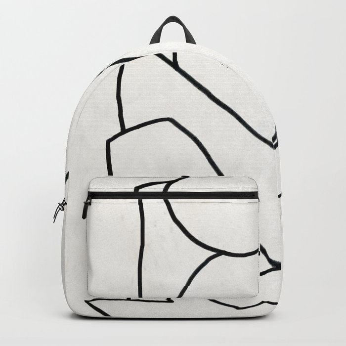 Abstract line art 2 Backpack