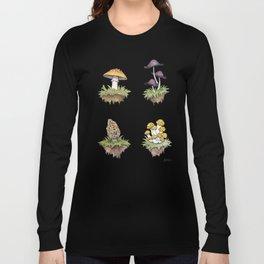 Mushroom Island Pattern Long Sleeve T-shirt