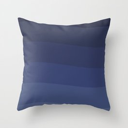 Six shades of blue. Throw Pillow