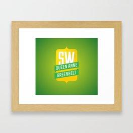 SW Queen Anne Greenbelt Framed Art Print