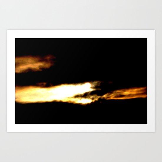 Dragon in a clouds. Art Print