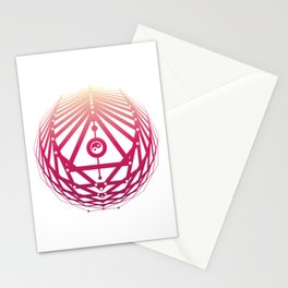 Radiant Abundance (white-sunrise) Stationery Cards