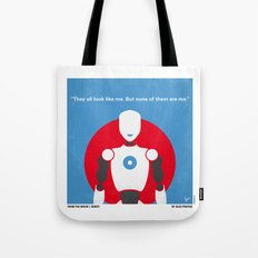 No275 My I ROBOT minimal movie poster Tote Bag