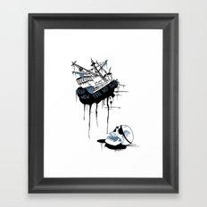 Shipwreck Framed Art Print