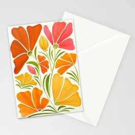 Spring Wildflowers / Floral Illustration Stationery Cards