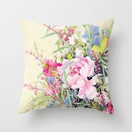 Shelly's Bouquet Throw Pillow