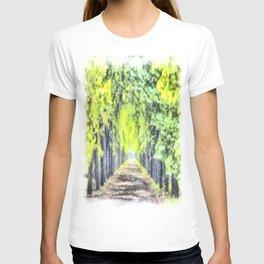 Forest Path Watercolour Art T-shirt