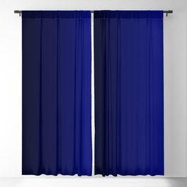 Gradient Effect (Horizontal) - Admiral Blue Blackout Curtain