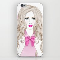 bow iPhone & iPod Skins featuring Bow by Crecre