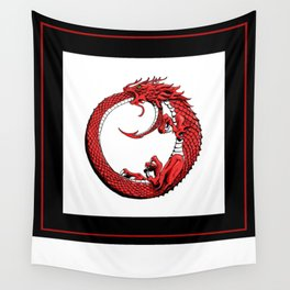 The Wyrm Turned Red Wall Tapestry