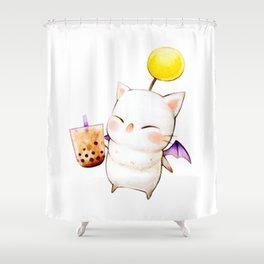 Moogle Bubble Tea Shower Curtain