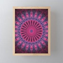 Pink and violet mandala Framed Mini Art Print