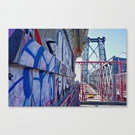 Williamsburg Bridge traffic Canvas Print