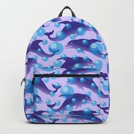 Dolphins under water #society6 #decor #buyart #artprint Backpack