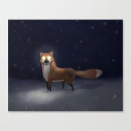 ghost fox Canvas Print