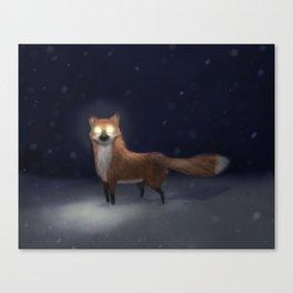 ghost fox Canvas Print