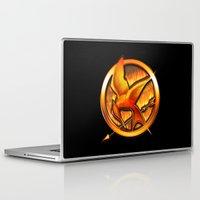 mockingjay Laptop & iPad Skins featuring Mockingjay by Joshua Epling