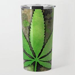 Weed Leaf Travel Mug