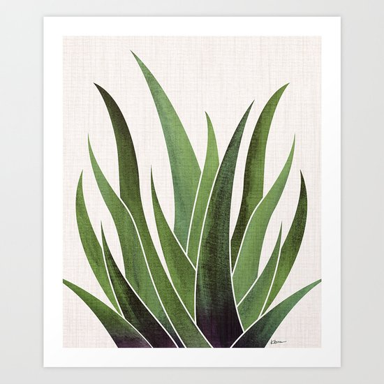 Vintage Agave / Desert Succulent by kristiangallagher