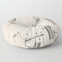 Table Tennis Patent - Tennis Paddle Art - Antique Floor Pillow