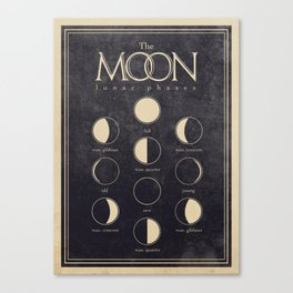 Lunar Phases Moon Cycles Canvas Print