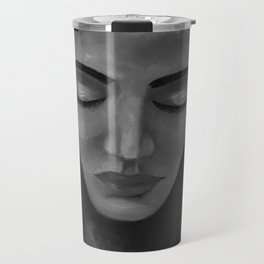On My Mind by Lu, black-and-white Travel Mug