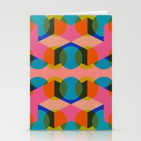 60s Stationery Cards featuring Geometric 60s by Lilly Marfy